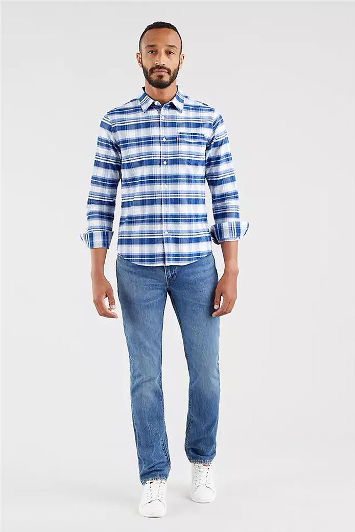 Levi's® ανδρικό τζην παντελόνι 511™ Slim Fit (34L) Μπλε Ανοιχτό 1