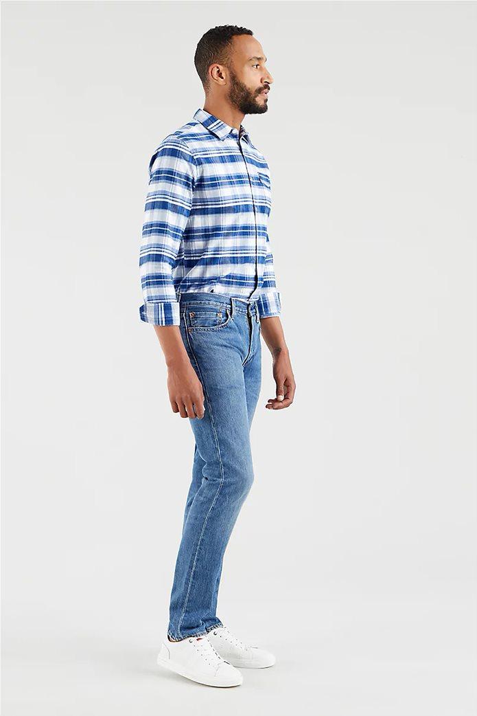 Levi's® ανδρικό τζην παντελόνι 511™ Slim Fit (34L) Μπλε Ανοιχτό 2