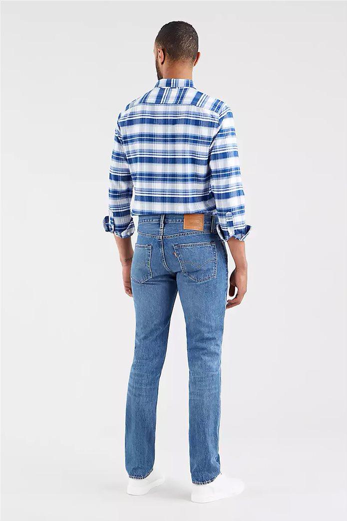 Levi's® ανδρικό τζην παντελόνι 511™ Slim Fit (34L) Μπλε Ανοιχτό 3