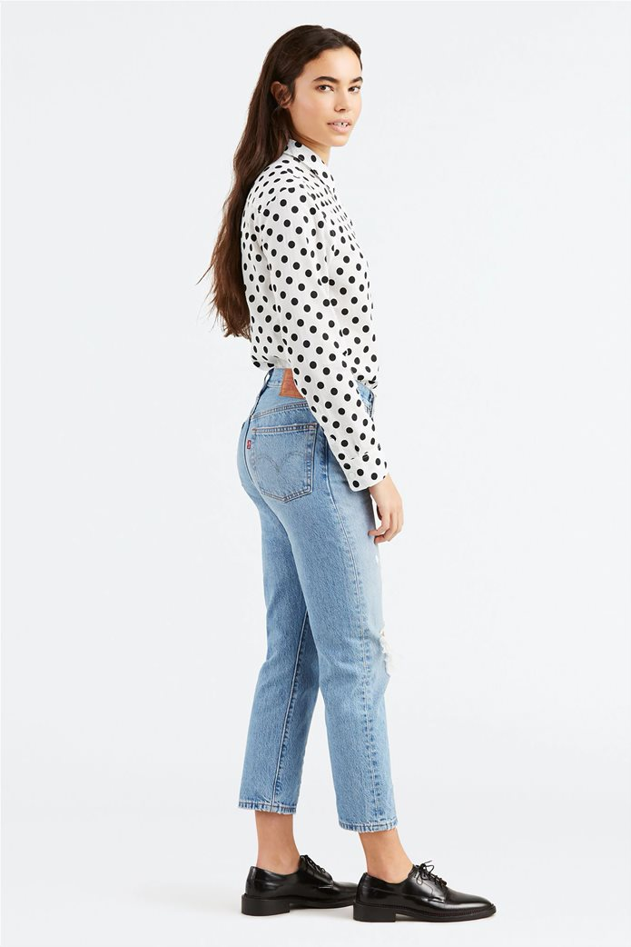 Levi's γυναικείο τζην παντελόνι Αuthentically yours 501® Crop (28L) Ανοιχτό Γαλάζιο 1