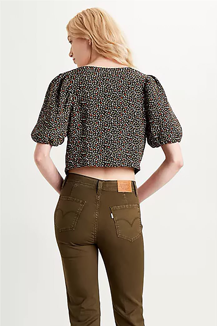 "Levi's® γυναικεία μπλούζα με floral print και κουμπιά ""Holly Blouse"" Μαύρο 2"
