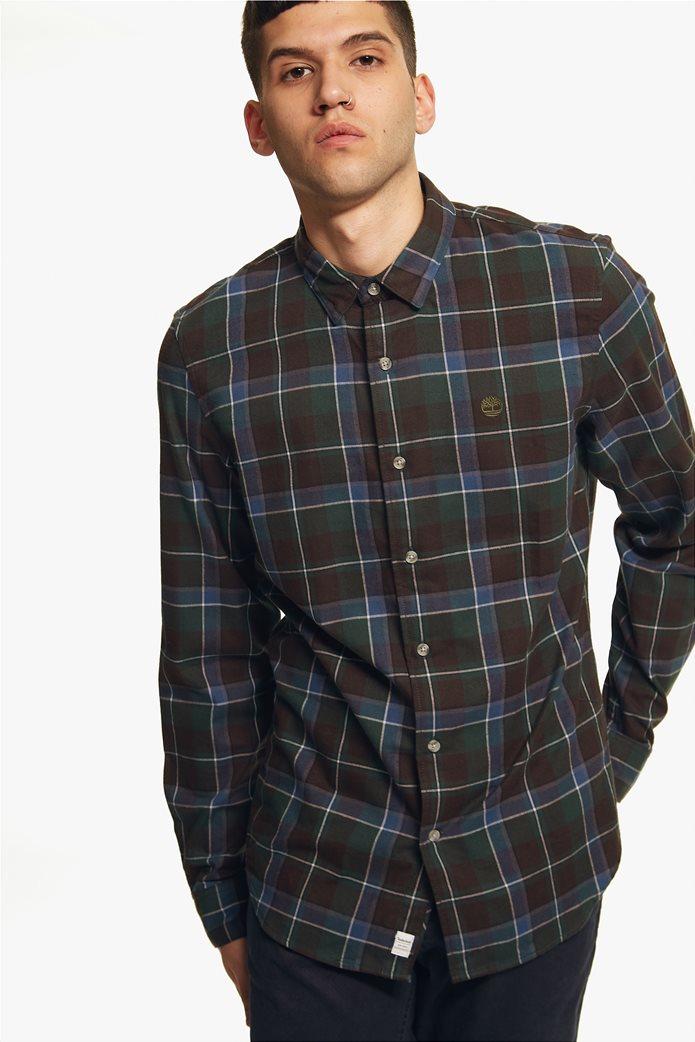 Timberland ανδρικό πουκάμισο καρό με κεντημένο λογότυπο 0