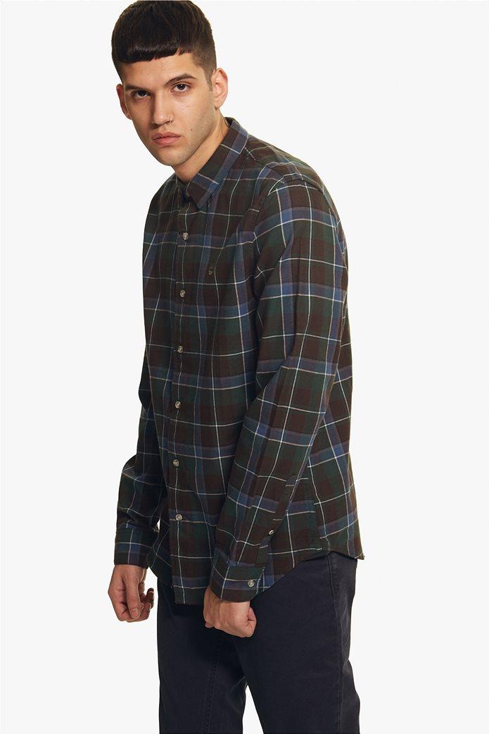 Timberland ανδρικό πουκάμισο καρό με κεντημένο λογότυπο 5