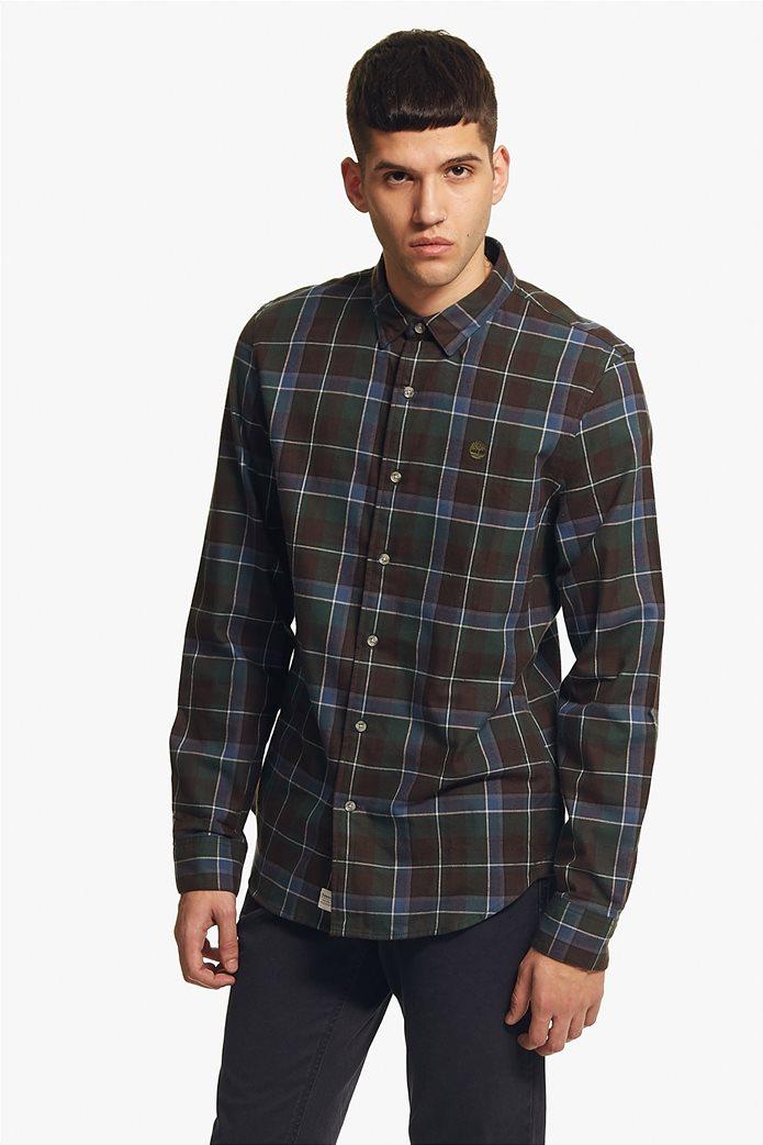 Timberland ανδρικό πουκάμισο καρό με κεντημένο λογότυπο 1