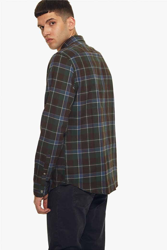 Timberland ανδρικό πουκάμισο καρό με κεντημένο λογότυπο 3