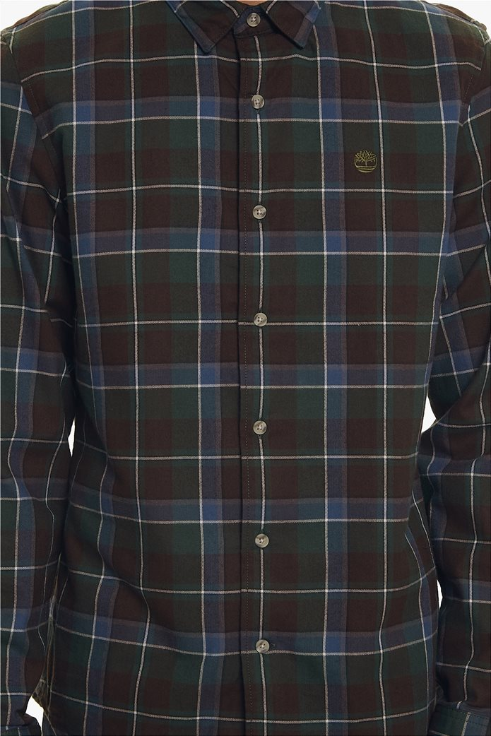 Timberland ανδρικό πουκάμισο καρό με κεντημένο λογότυπο 4