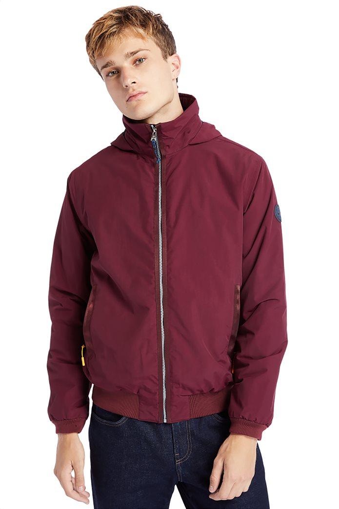 Timberland ανδρικό bomber jacket μονόχρωμο ''Lafayette'' Μπορντό 0