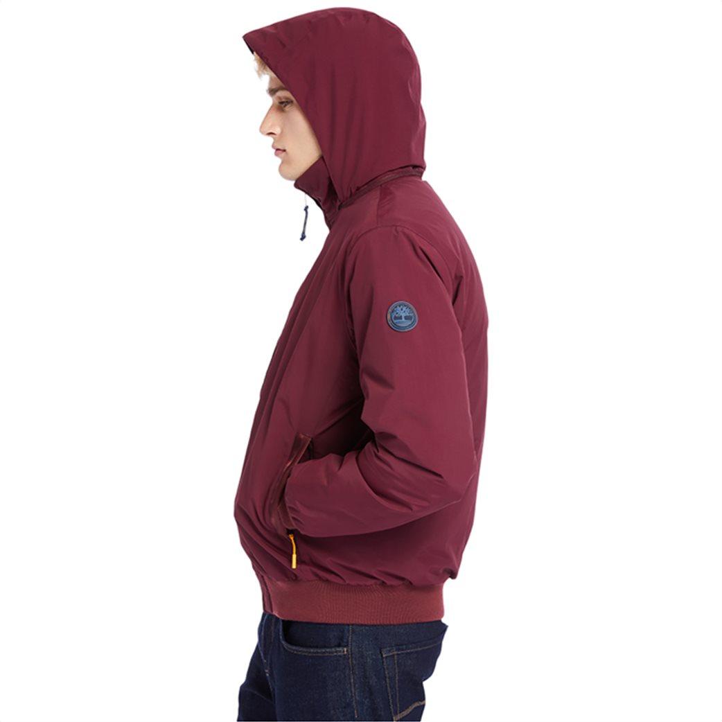 Timberland ανδρικό bomber jacket μονόχρωμο ''Lafayette'' Μπορντό 2