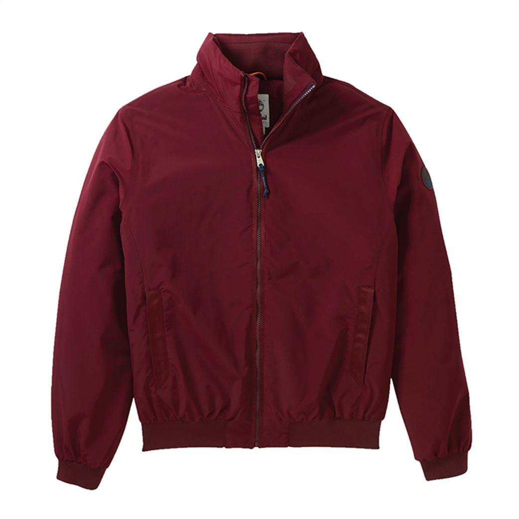 Timberland ανδρικό bomber jacket μονόχρωμο ''Lafayette'' Μπορντό 4