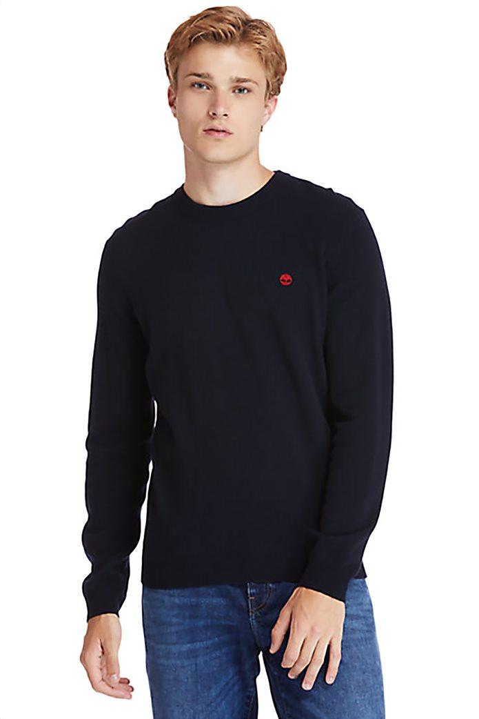 Timberland ανδρικό πουλόβερ με κεντημένο λογότυπο ''Cohas Brook'' Μπλε Σκούρο 0
