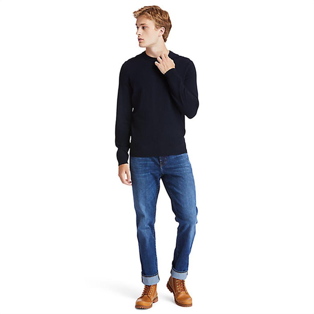 Timberland ανδρικό πουλόβερ με κεντημένο λογότυπο ''Cohas Brook'' Μπλε Σκούρο 1