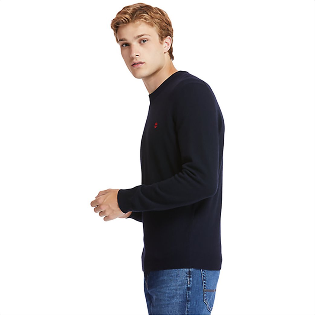 Timberland ανδρικό πουλόβερ με κεντημένο λογότυπο ''Cohas Brook'' Μπλε Σκούρο 2
