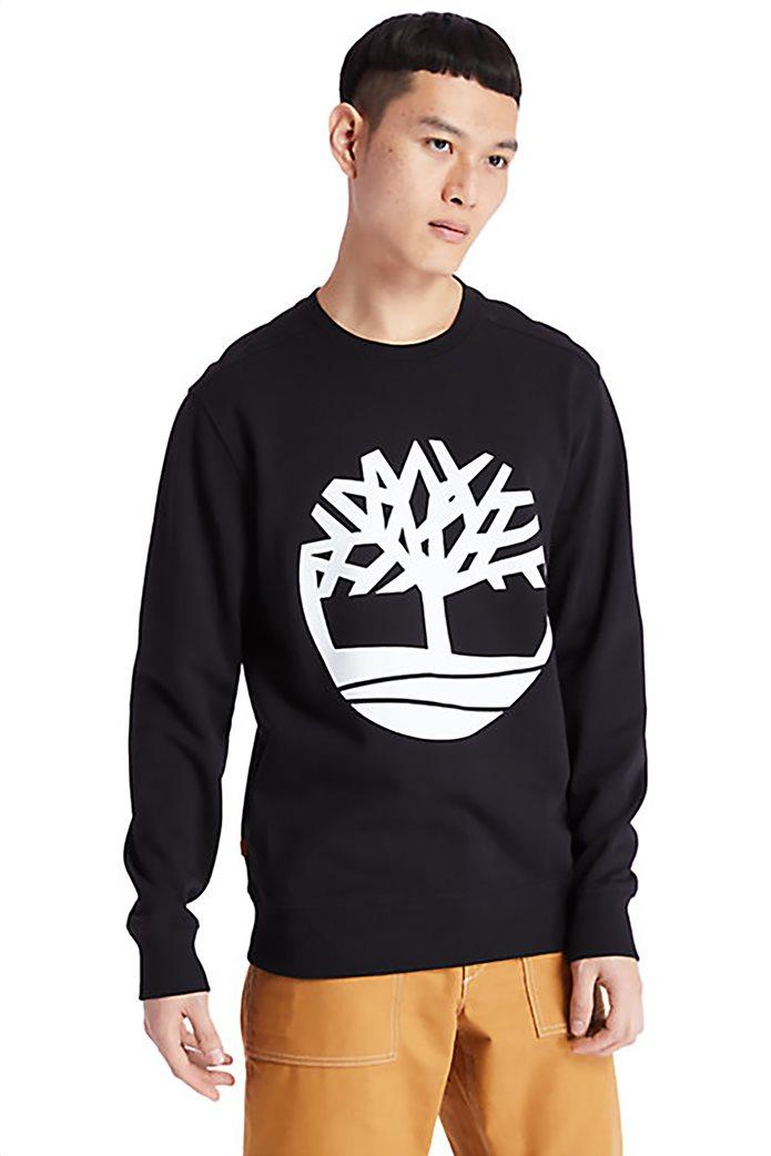 Timberland ανδρική φούτερ μπλούζα με logo print Μαύρο 0
