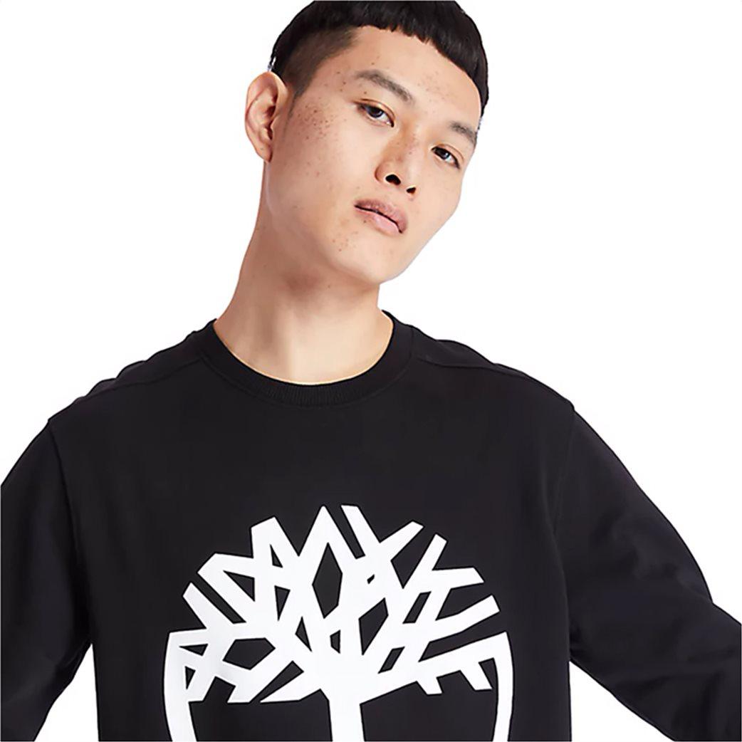 Timberland ανδρική φούτερ μπλούζα με logo print Μαύρο 1