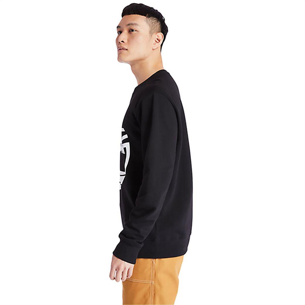 Timberland ανδρική φούτερ μπλούζα με logo print Μαύρο 2