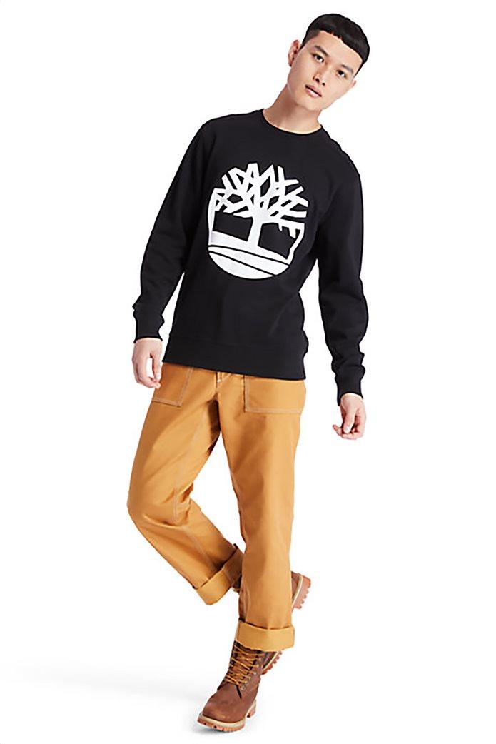 Timberland ανδρική φούτερ μπλούζα με logo print Μαύρο 4