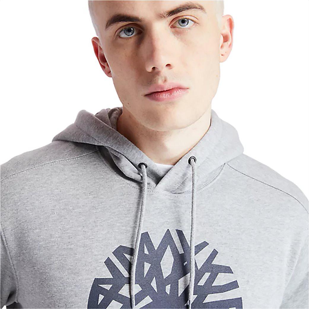 Timberland ανδρική φούτερ μπλούζα με logo print Γκρι 1