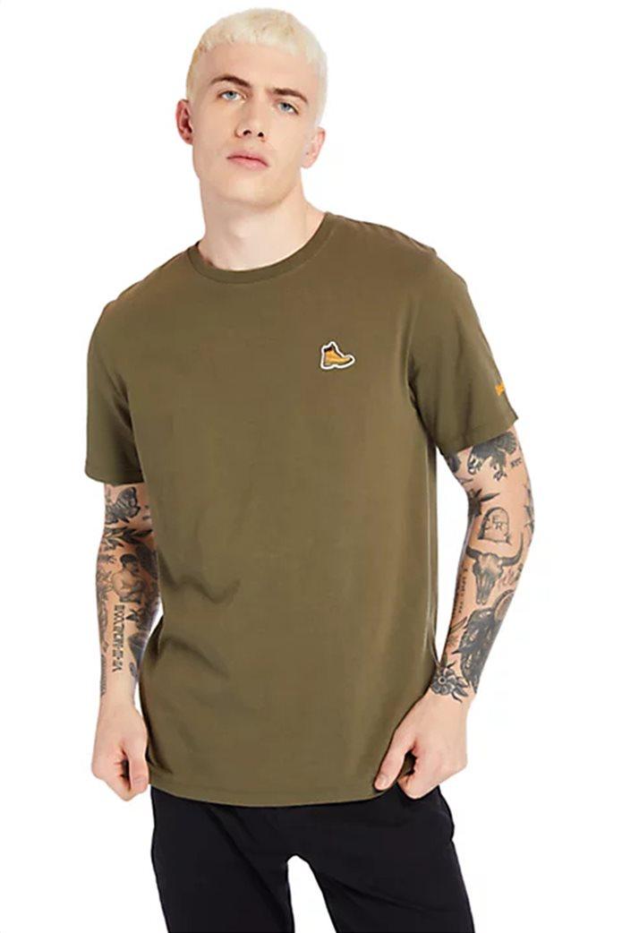 Timberland ανδρικό T-shirt ''Boot Logo'' Χακί 0