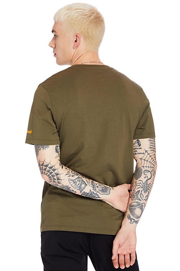 Timberland ανδρικό T-shirt ''Boot Logo'' Χακί 2