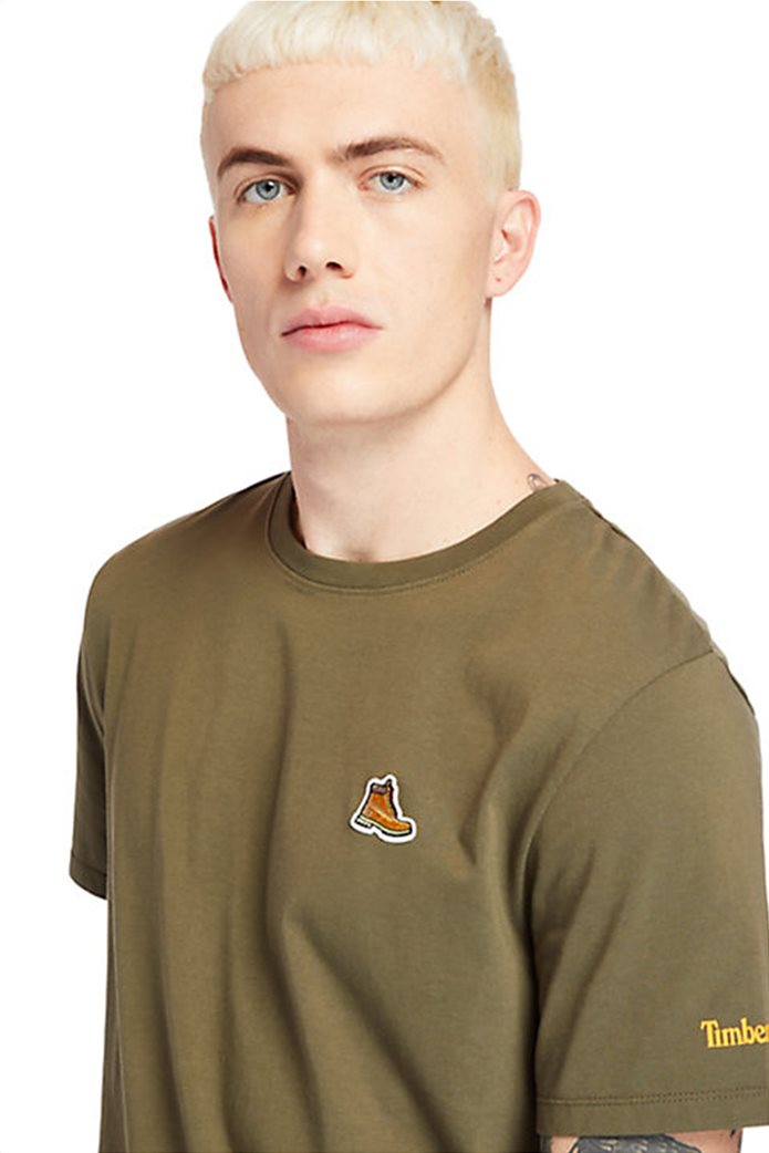 Timberland ανδρικό T-shirt ''Boot Logo'' Χακί 4