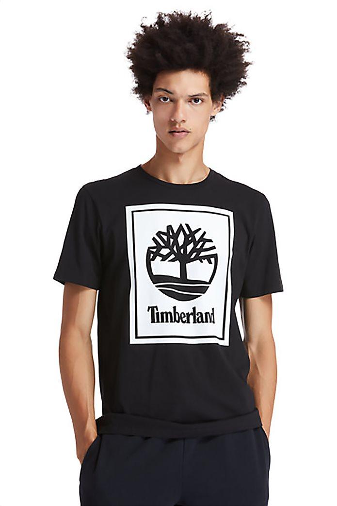 Timberland ανδρικό T-Shirt με logo print Μαύρο 0