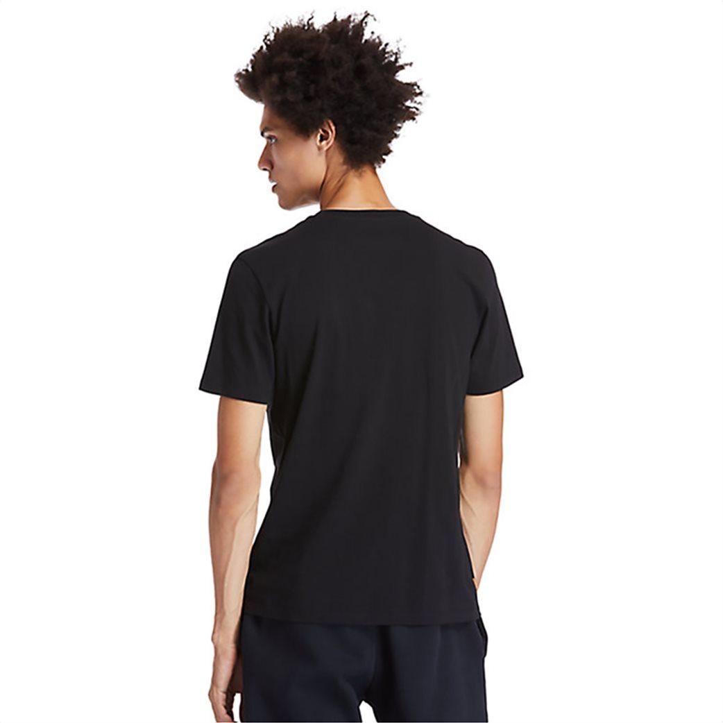 Timberland ανδρικό T-Shirt με logo print Μαύρο 3