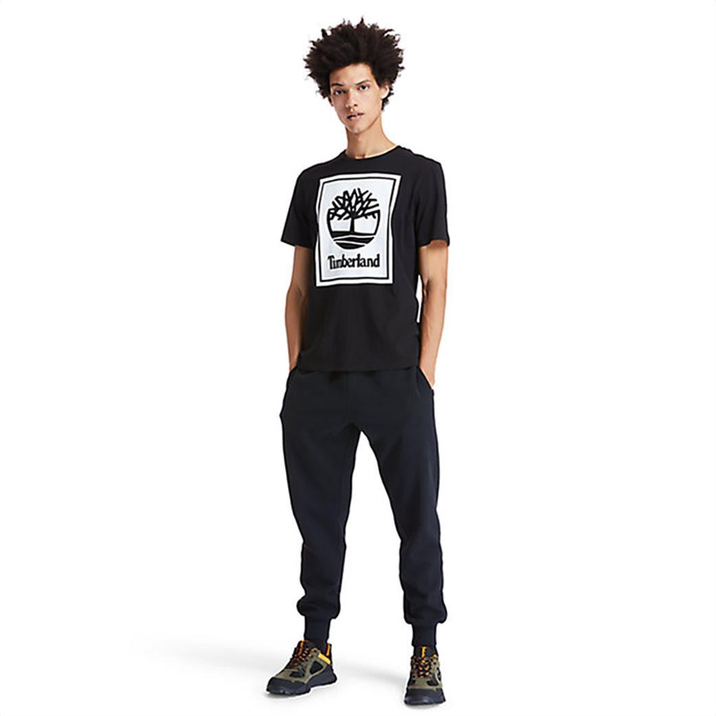 Timberland ανδρικό T-Shirt με logo print Μαύρο 4