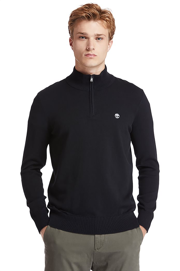 Timberland ανδρικό πουλόβερ με φερμουάρ στη λαιμόκοψη ''Williams River'' Μαύρο 0