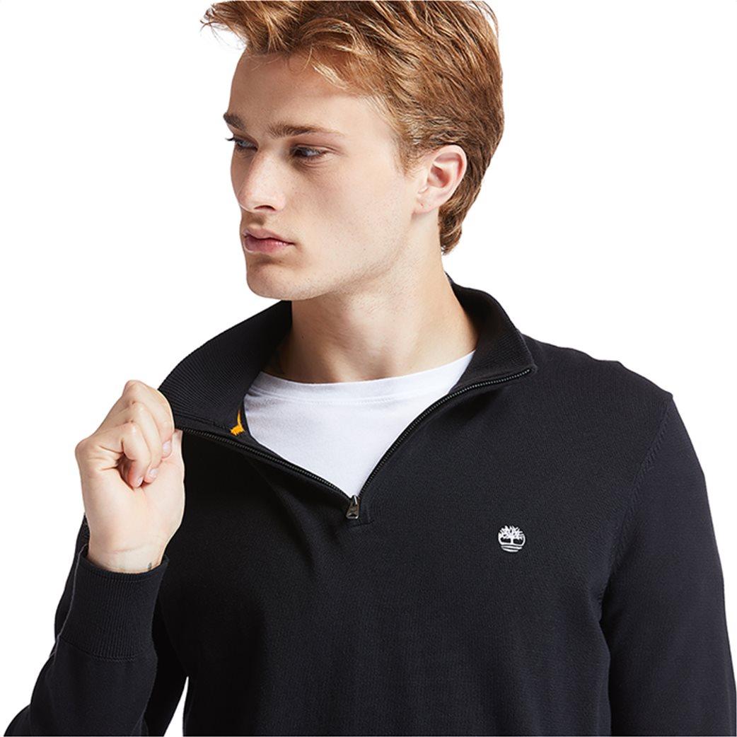 Timberland ανδρικό πουλόβερ με φερμουάρ στη λαιμόκοψη ''Williams River'' Μαύρο 1
