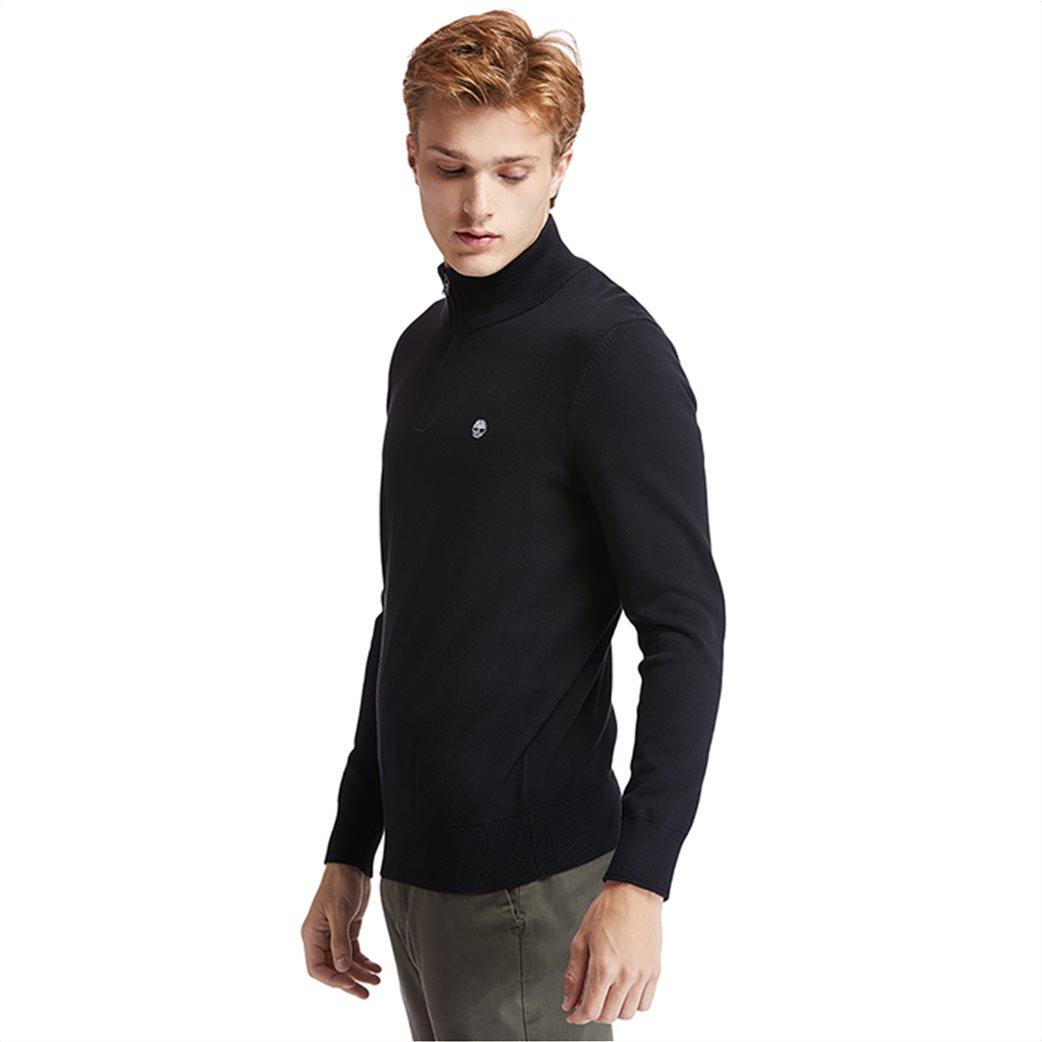 Timberland ανδρικό πουλόβερ με φερμουάρ στη λαιμόκοψη ''Williams River'' Μαύρο 2
