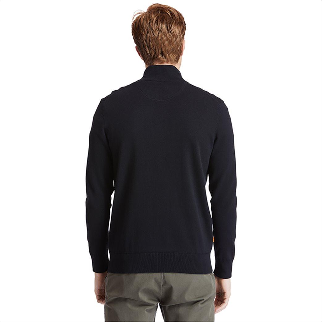 Timberland ανδρικό πουλόβερ με φερμουάρ στη λαιμόκοψη ''Williams River'' Μαύρο 3