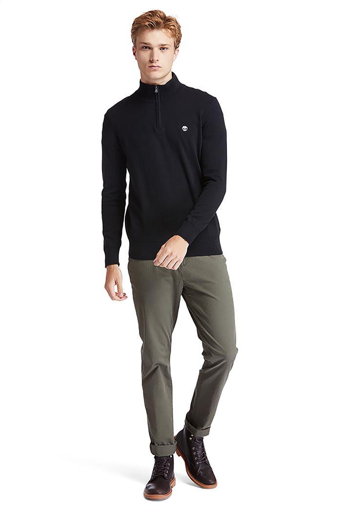 Timberland ανδρικό πουλόβερ με φερμουάρ στη λαιμόκοψη ''Williams River'' Μαύρο 4