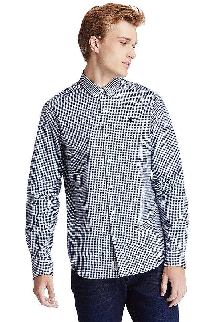 Timberland ανδρικό πουκάμισο με καρό σχέδιο ''Suncook River'' Μπλε Σκούρο 0
