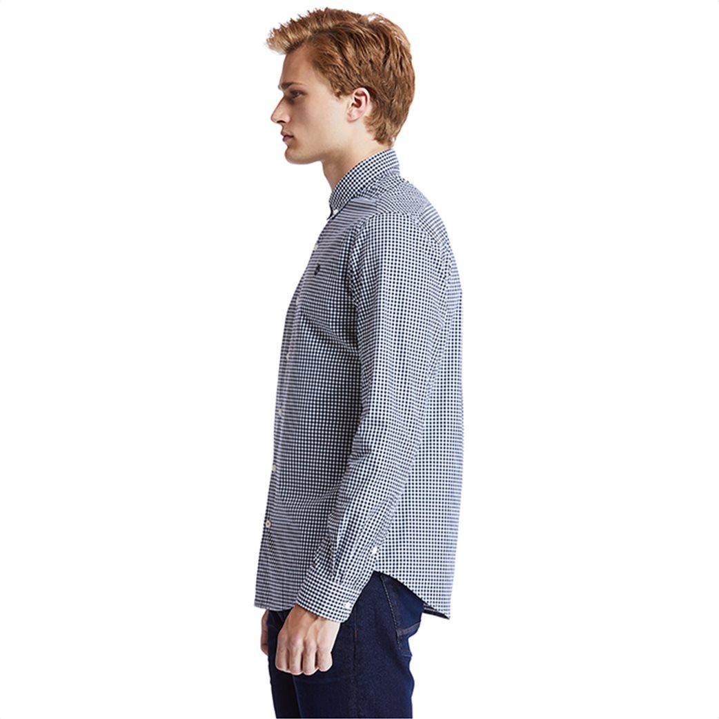 Timberland ανδρικό πουκάμισο με καρό σχέδιο ''Suncook River'' Μπλε Σκούρο 2