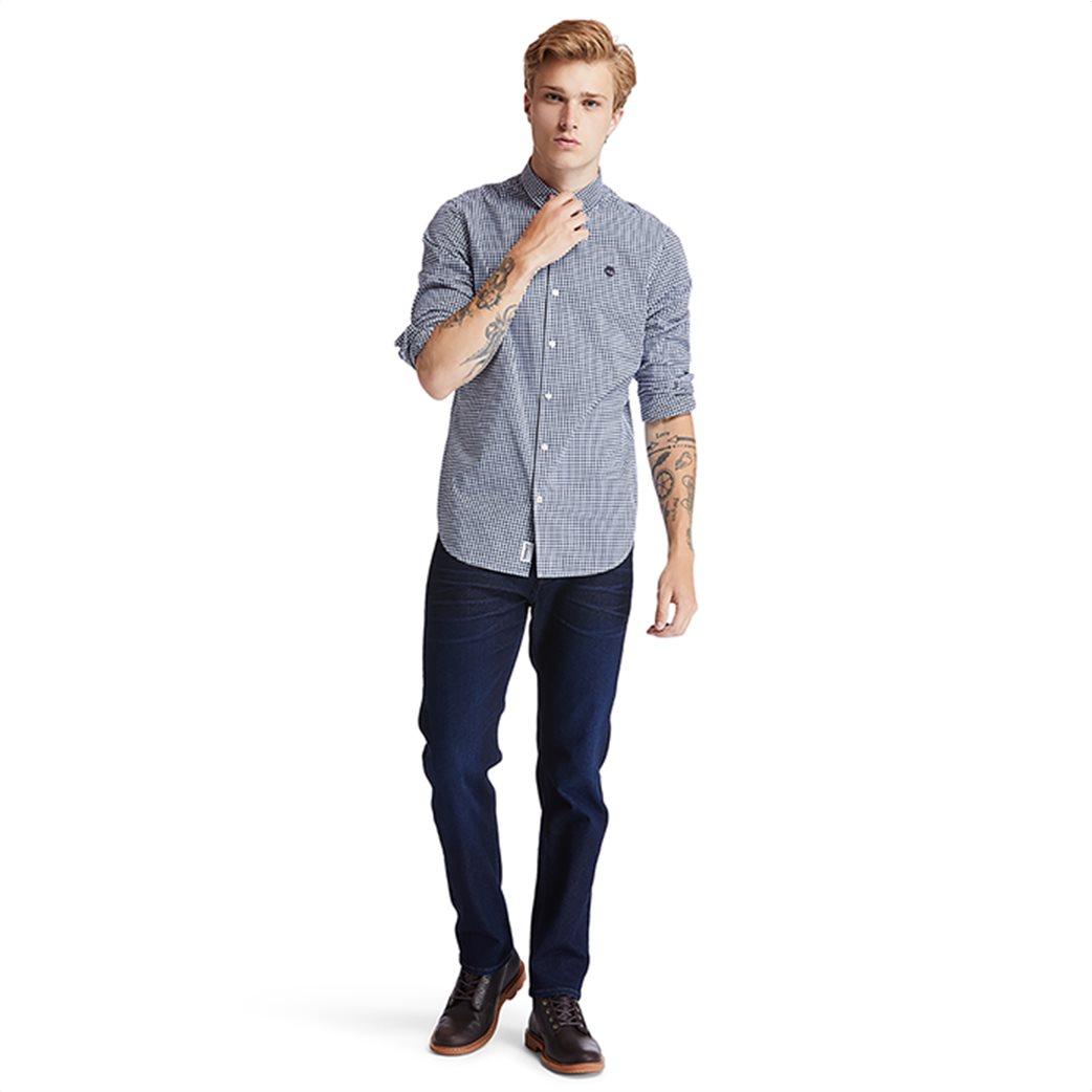 Timberland ανδρικό πουκάμισο με καρό σχέδιο ''Suncook River'' Μπλε Σκούρο 4