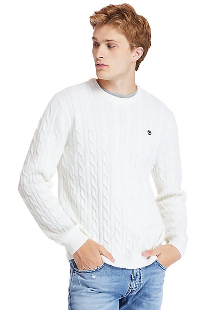 Timberland ανδρικό πουλόβερ με σχέδιο πλεξούδα στην ύφανση ''Philips Brook'' Λευκό 0