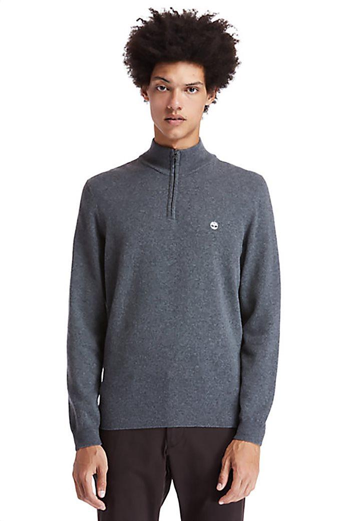 Timberland ανδρικό πουλόβερ με φερμουάρ στη λαιμόκοψη ''Choas Brook'' Γκρι 0