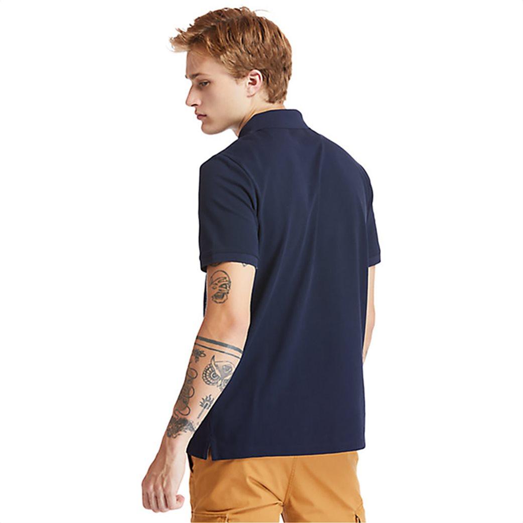 Timberland ανδρική πόλο μπλούζα με κεντημένο λογότυπο ''Millers River'' Μπλε Σκούρο 3