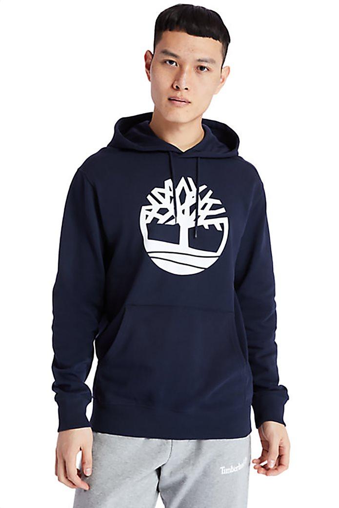 Timberland ανδρική φούτερ μπλούζα με logo print και κουκούλα Μπλε Σκούρο 0