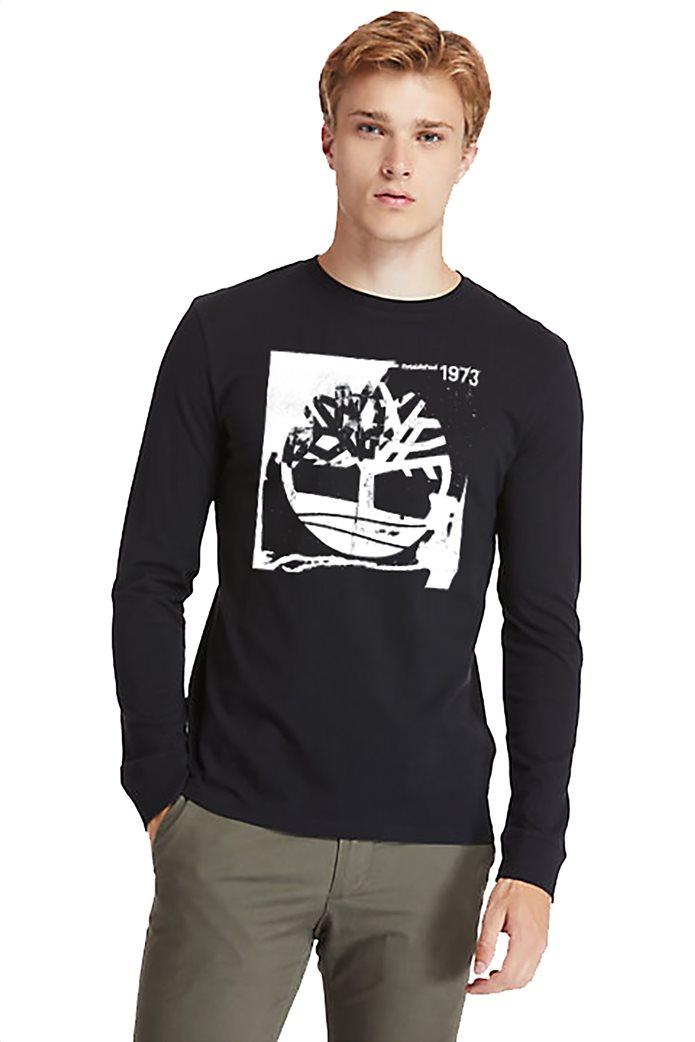 Timberland ανδρική μπλούζα με logo print Μαύρο 0