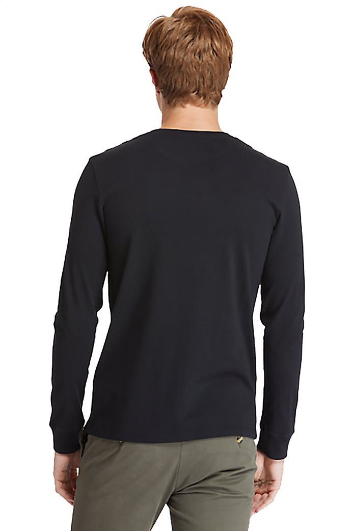 Timberland ανδρική μπλούζα με logo print Μαύρο 1