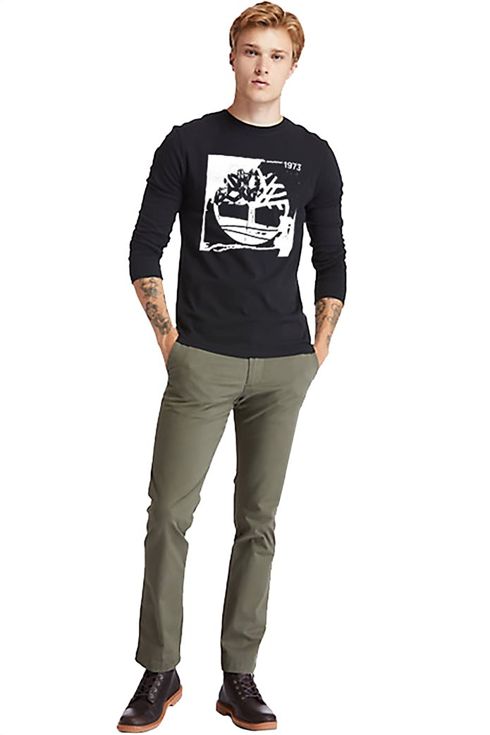 Timberland ανδρική μπλούζα με logo print Μαύρο 2