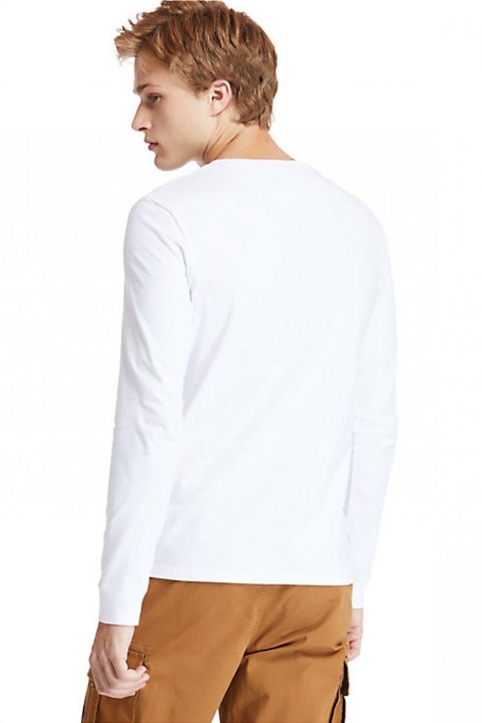 Timberland ανδρική μπλούζα με logo print Λευκό 1