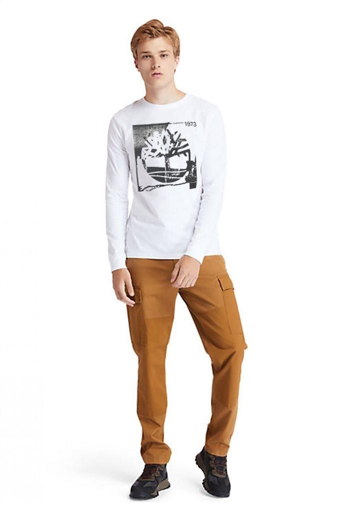 Timberland ανδρική μπλούζα με logo print Λευκό 2