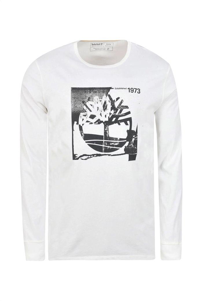 Timberland ανδρική μπλούζα με logo print Λευκό 3