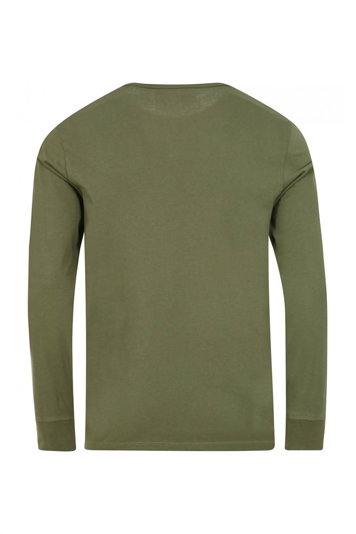 Timberland ανδρική μπλούζα με logo print Χακί 1