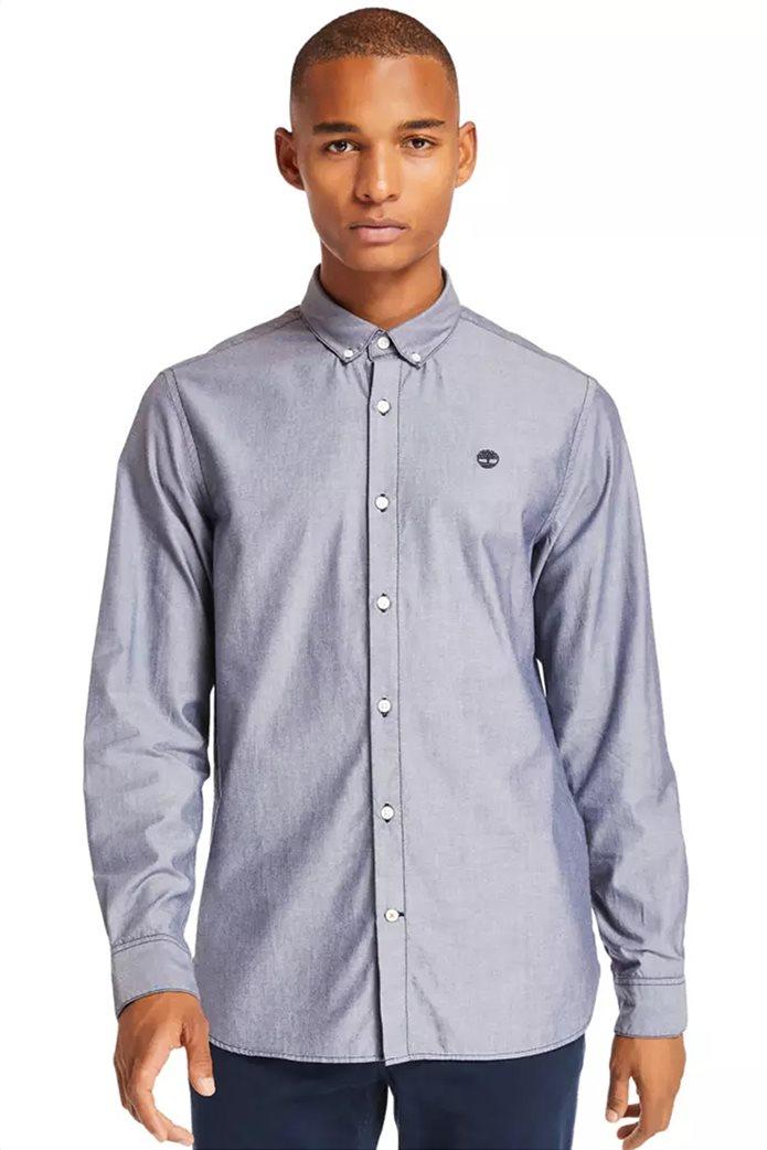 Timberland ανδρικό πουκάμισο με κεντημένο λογότυπο ''Ls Elevated'' Γκρι 0
