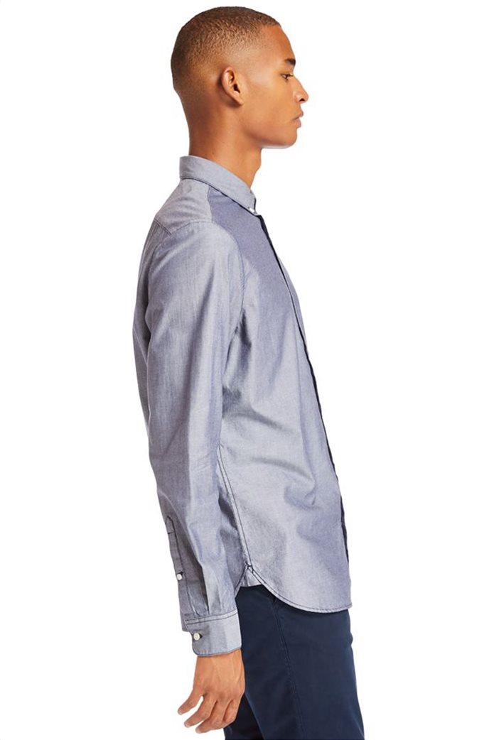 Timberland ανδρικό πουκάμισο με κεντημένο λογότυπο ''Ls Elevated'' Γκρι 2