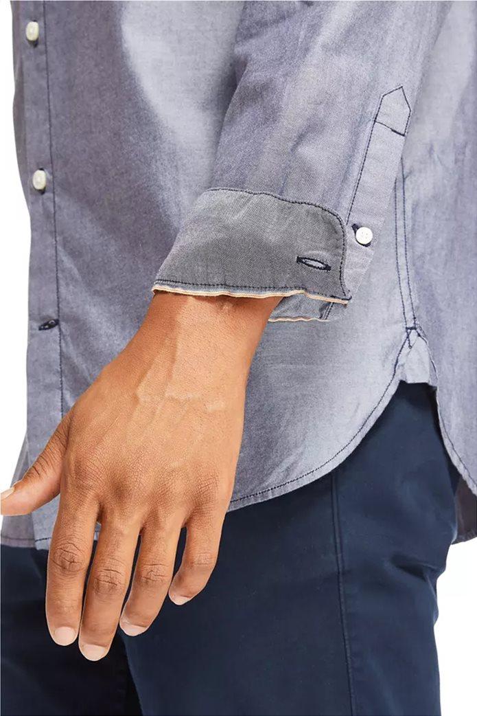Timberland ανδρικό πουκάμισο με κεντημένο λογότυπο ''Ls Elevated'' Γκρι 4