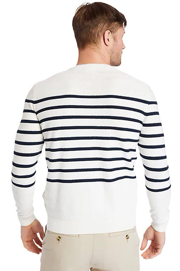 Timberland ανδρικό πουλόβερ ριγέ με κεντημένο λογότυπο 3